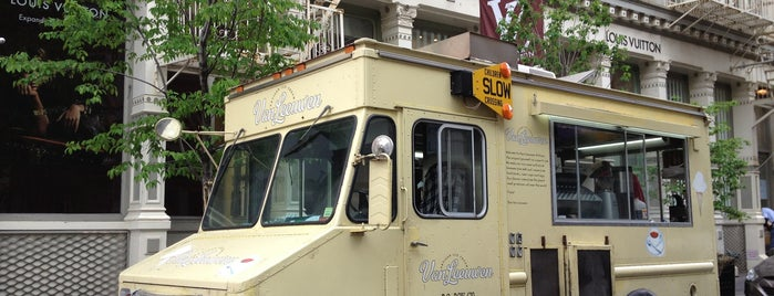 Van Leeuwen Ice Cream Truck - Greene is one of NY Green.