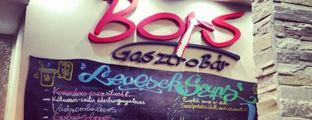 Bors Gasztrobár is one of Where to eat? (tried and recommended places).