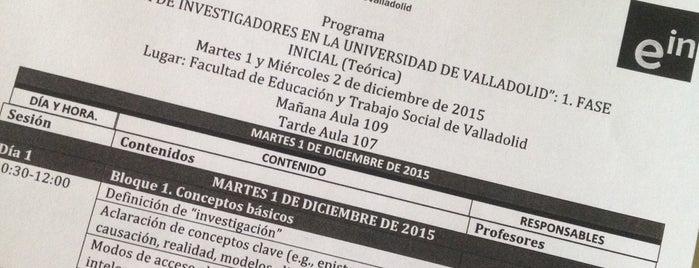 Facultad De Educación y Trabajo Social is one of Formación.