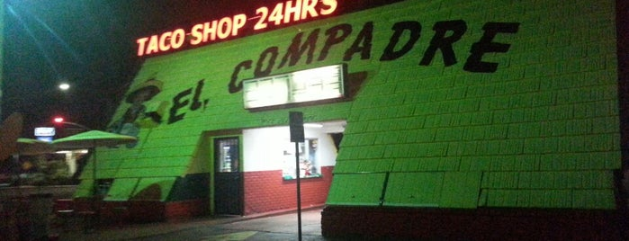 El Compadre Taco Shop is one of Morning Shit Safe Haven.
