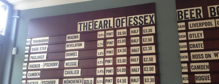 Earl of Essex is one of London's Best for Beer.
