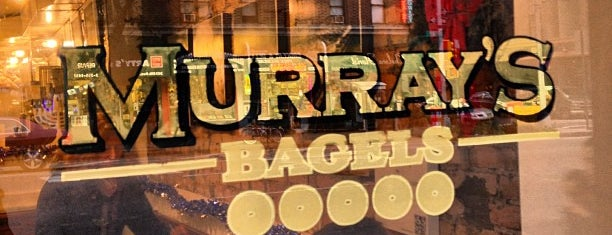Murray's Bagels is one of Celia and Dima visit NYC.