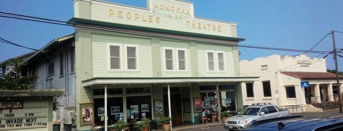 Honokaa Peoples Theater is one of HI spots.