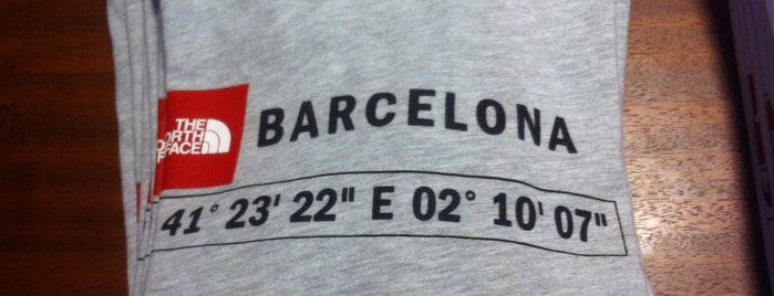 The North Face Store is one of Barcelona.