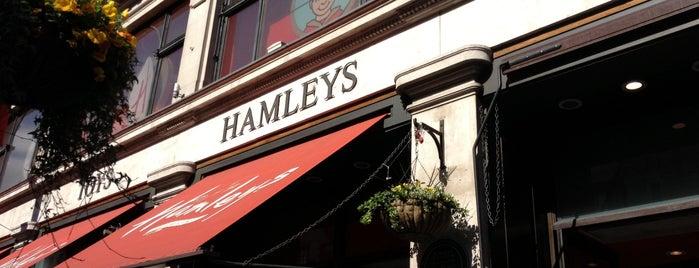 Hamleys is one of London.