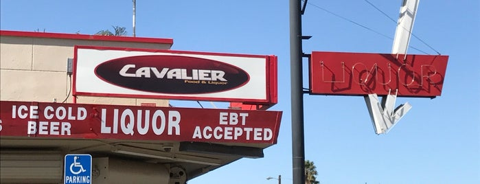 Cavalier Liquor II is one of Central CALIFORNIA vintage signs.