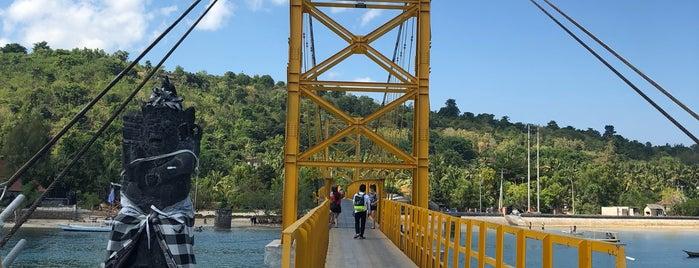 Suspension Bridge Lembongan - Ceningan is one of Posti che sono piaciuti a Magan.