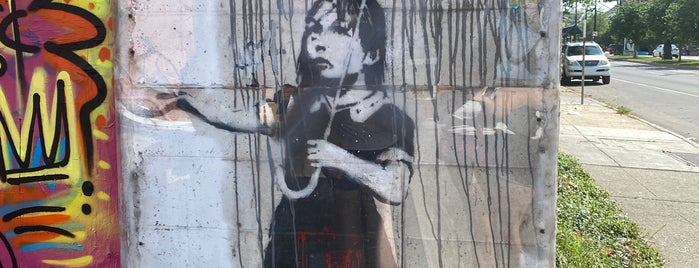 Banksy's Rain Girl is one of Places to visit in the US of A!.