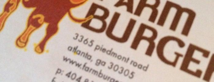 Farm Burger is one of Atlanta Burgers FTW.