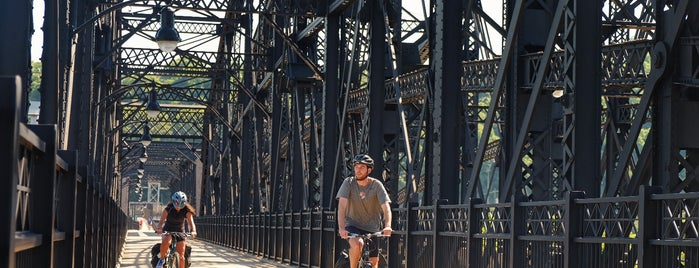 Hot Metal Bridge is one of Bikabout's Guide to the GAP Trail and C&O Towpath.