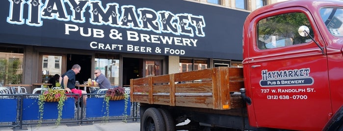 Haymarket Pub & Brewery is one of Bikabout Chicago.