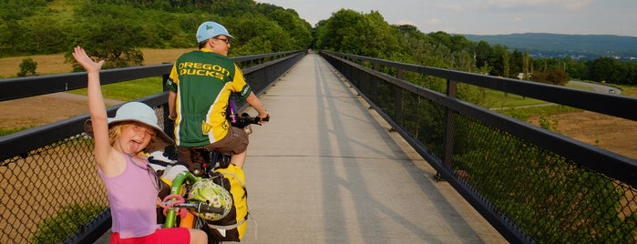 Salisbury Viaduct is one of Bikabout's Guide to the GAP Trail and C&O Towpath.