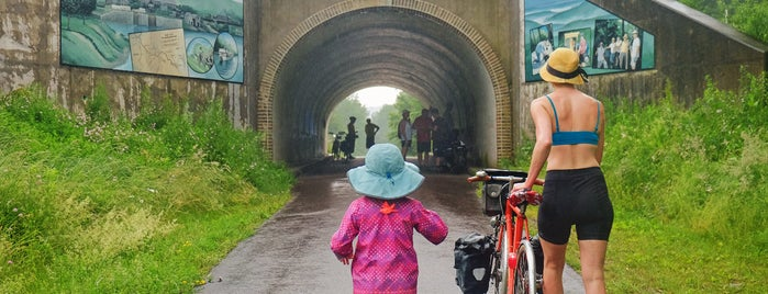 Eastern Continental Divide is one of Bikabout's Guide to the GAP Trail and C&O Towpath.