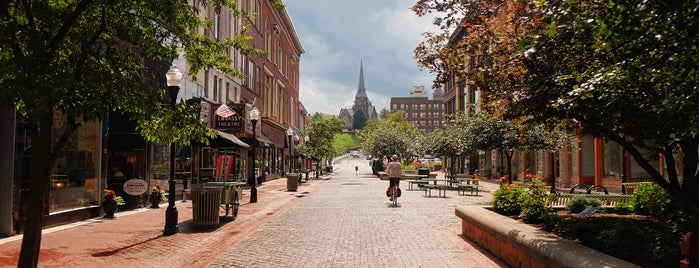 Downtown Cumberland Walking Mall is one of Bikabout's Guide to the GAP Trail and C&O Towpath.