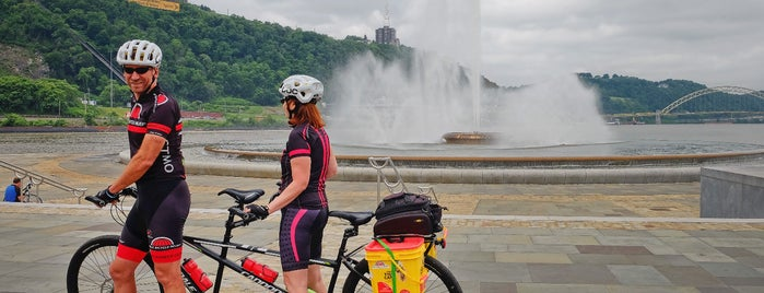 Great Allegheny Passage Trailhead (Point State Park) is one of Bikabout's Guide to the GAP Trail and C&O Towpath.