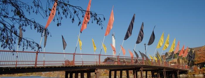 Foot Bridge over the Deschutes River is one of Best of Bend by Bike.