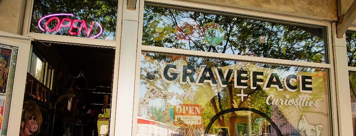 Graveface Records & Curiosities is one of Bikabout Savannah.