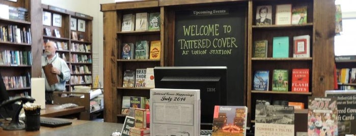 tattered cover (Union Station) is one of Denver Eats & Sights.