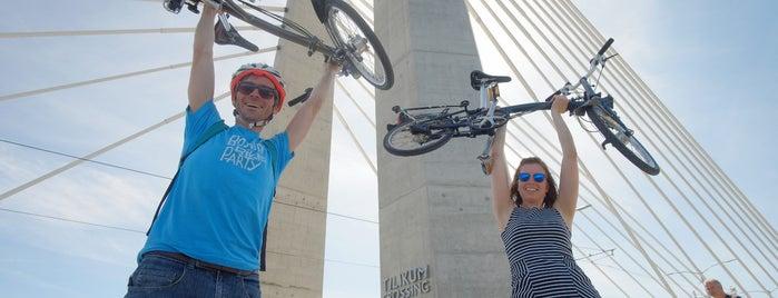 Tilikum Crossing is one of Best of Portland by Bike.