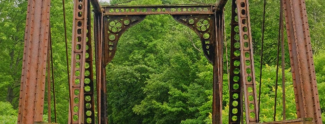 The Bollman Bridge is one of Bikabout's Guide to the GAP Trail and C&O Towpath.