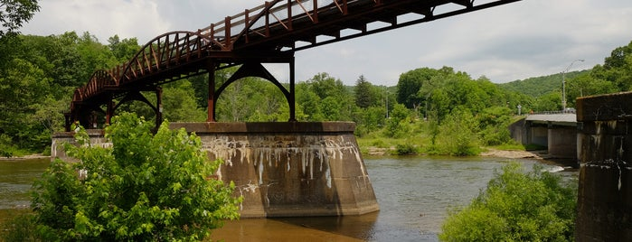 Ohiopyle Falls is one of Bikabout's Guide to the GAP Trail and C&O Towpath.