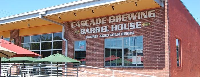 Cascade Brewing Barrel House is one of Best of Portland by Bike.