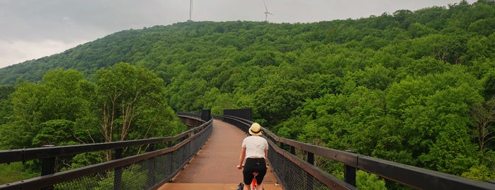 Keystone Viaduct is one of Bikabout's Guide to the GAP Trail and C&O Towpath.
