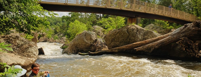 Great Falls Tavern Visitor Center is one of Bikabout's Guide to the GAP Trail and C&O Towpath.