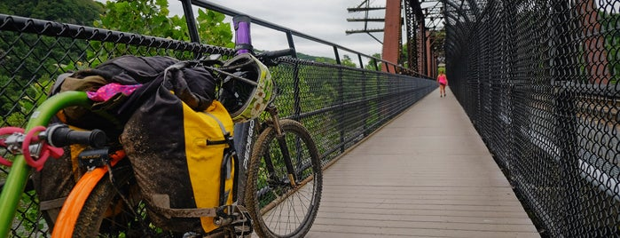 Winchester & Potomac Railroad Bridge is one of Bikabout's Guide to the GAP Trail and C&O Towpath.