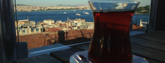 Galata Konak Cafe is one of liste.