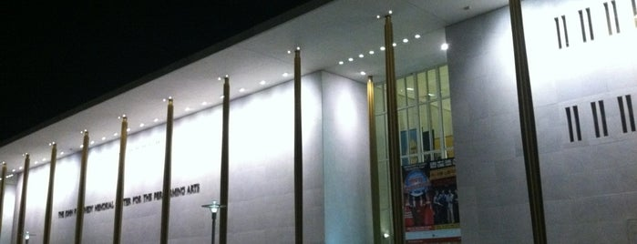 The John F. Kennedy Center for the Performing Arts is one of WASHINGTON D.C..
