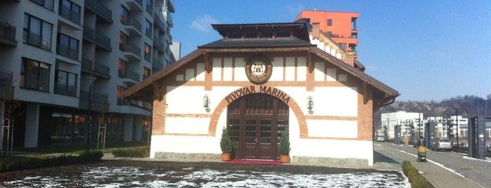 Restaurace a pivovar Marina is one of Пражские пивные - рекомендации от DailyBeer.eu.
