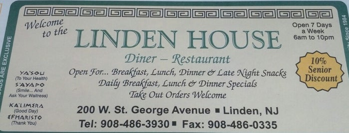 Linden House Diner is one of Locais curtidos por Theresa.