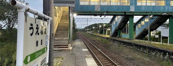 植苗駅 is one of JR 홋카이도역 (JR 北海道地方の駅).