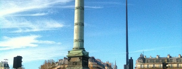 Place de la Bastille is one of Lugares favoritos de Merve.