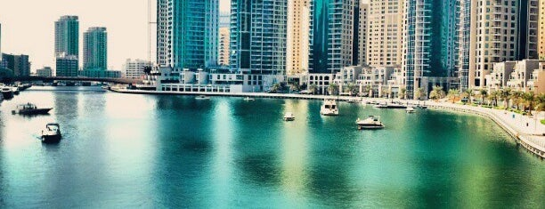 Dubai Marina Walk is one of Orte, die Pelin gefallen.