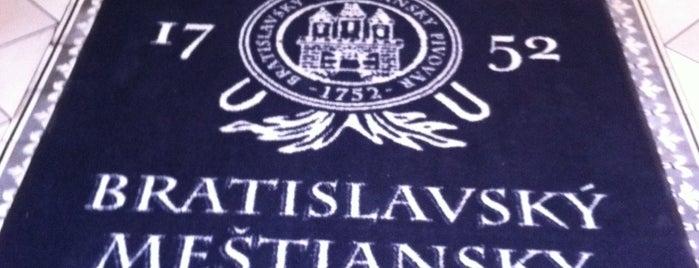 Bratislavský meštiansky pivovar is one of Bratislava.