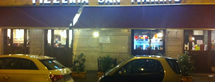 Pizzeria San Marino is one of Try out in Rome.