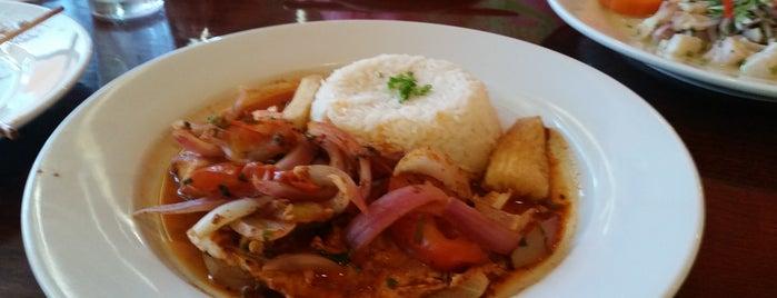 Aji Peruvian Restaurant is one of สถานที่ที่ Mari ถูกใจ.