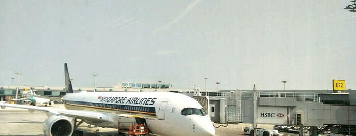 Gate E22 is one of Singapore.