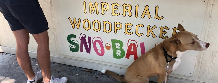 Imperial Woodpecker Sno-balls is one of Nola Lagniappe Listings.