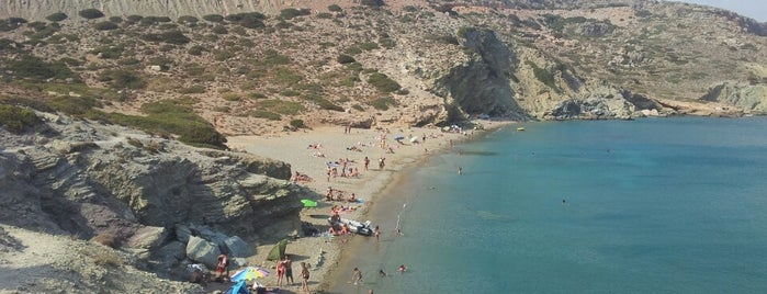 Ermoupoli Beach is one of Crete.