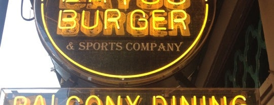 The Bayou Burger & Sports Company is one of Adam'ın Kaydettiği Mekanlar.
