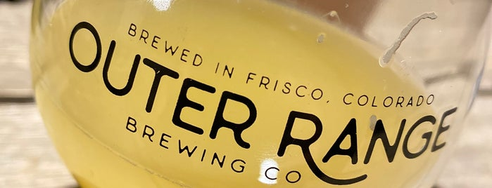 Outer Range Brewing is one of Denver.