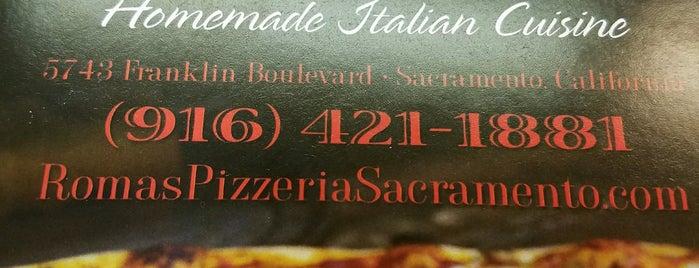 Roma's Pizzeria is one of Eater SF Sacramento.