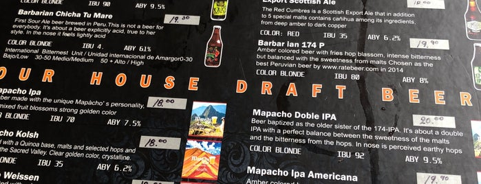 Mapacho Craft Beer is one of 🇵🇪 Peru | Hotspots.