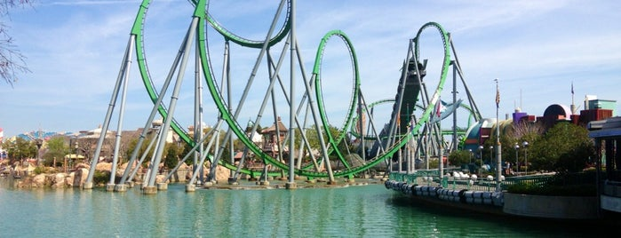 The Incredible Hulk Coaster is one of Lieux qui ont plu à Sergio.