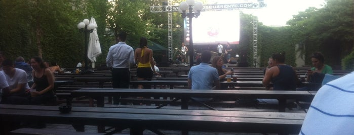 The Garden at Studio Square is one of The Best Places to Drink Outdoors in New York.