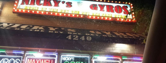 Nickys Gyros is one of Chicago WBEZ Scavenger Hunt.