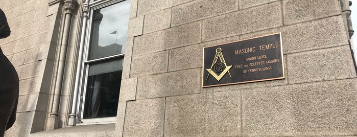 Masonic Temple Philadelphia Historic Marker is one of Lugares favoritos de tangee.